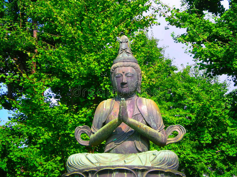 buddistisk staty tokyo arkivbilder