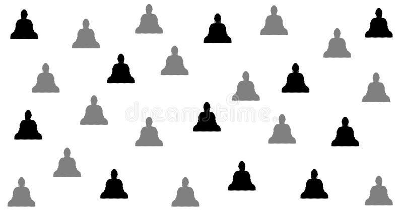 Buddistisk stilbakgrundsdesign, med abstrakt placering royaltyfri illustrationer