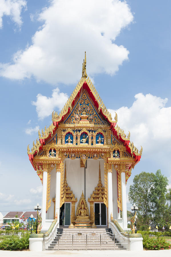 Buddistisk tempel arkivbild