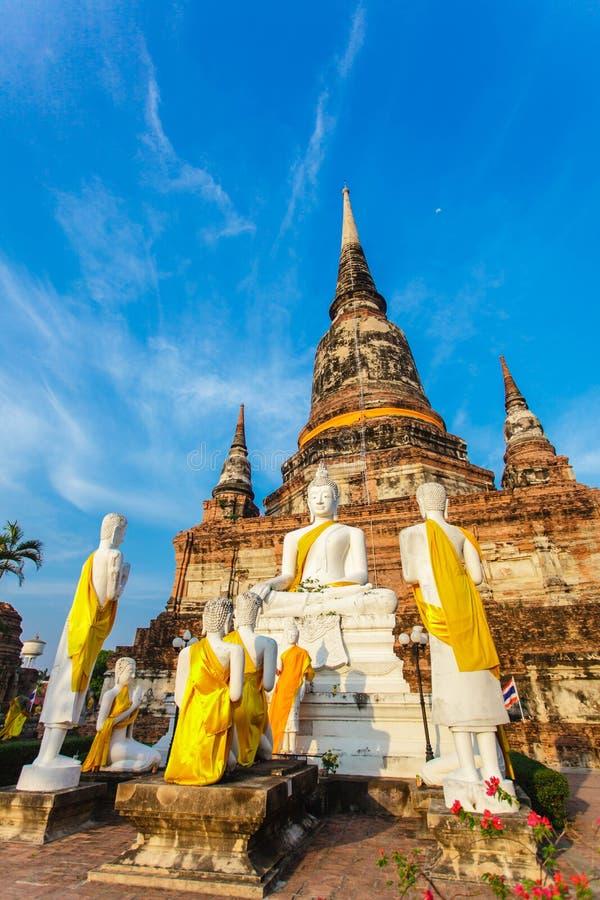 Buddistisk tempel Ayutthaya arkivfoton