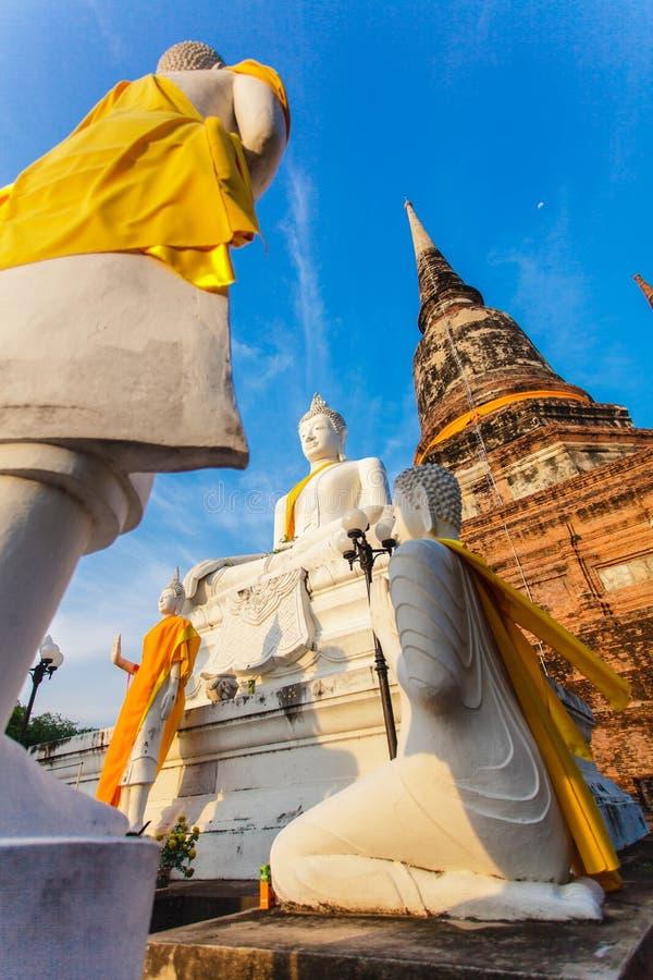 Buddistisk tempel Ayutthaya fotografering för bildbyråer