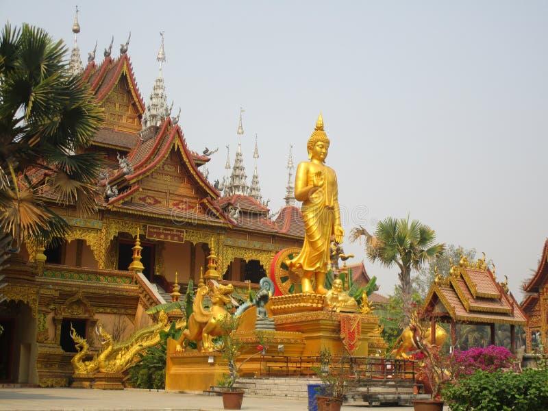 Buddistisk tempel i Jinghong, Xishuangbanna fotografering för bildbyråer
