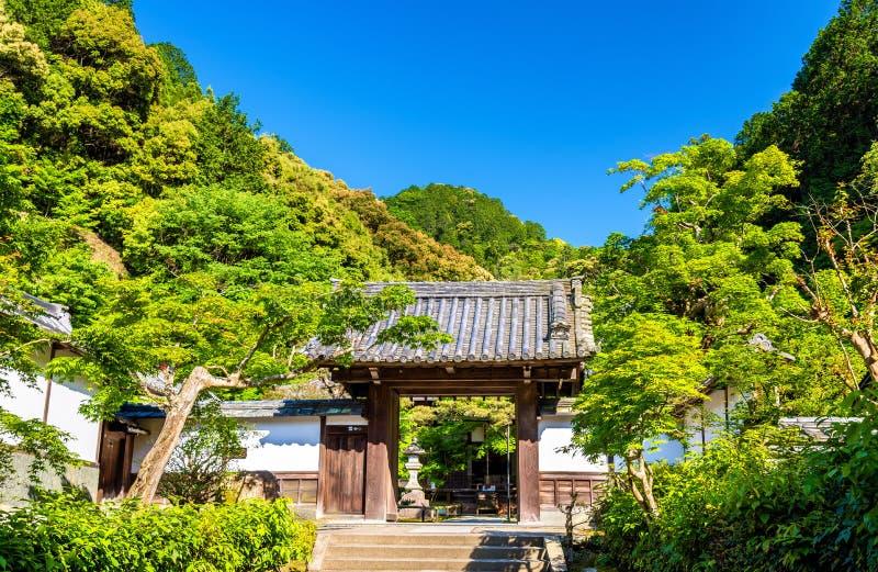 Buddistisk tempel i Nanzen-ji område - Kyoto fotografering för bildbyråer