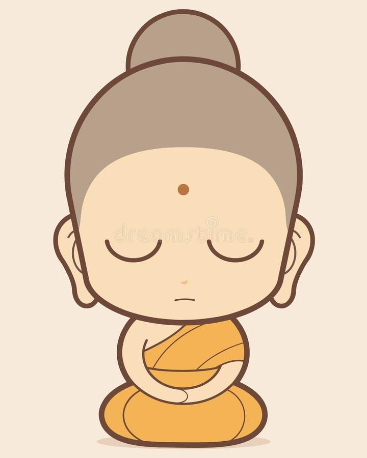 buddistiska royaltyfri illustrationer