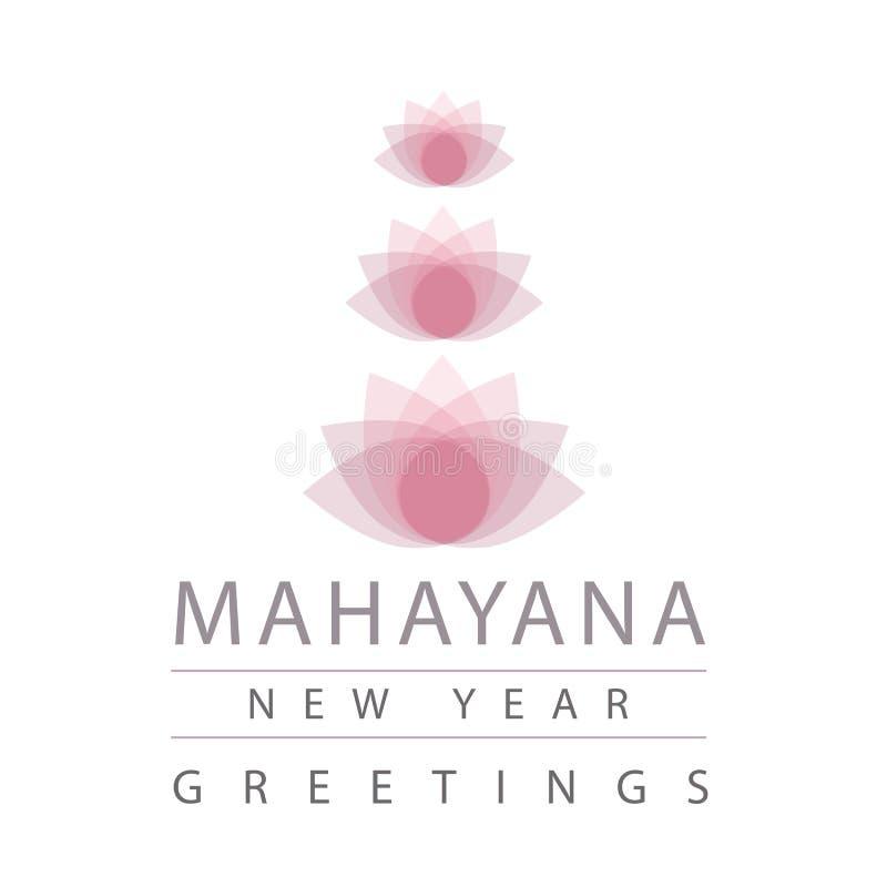 Buddistiska berömmar Mahayana för nytt år stock illustrationer