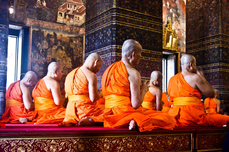 buddistiska monks royaltyfri fotografi