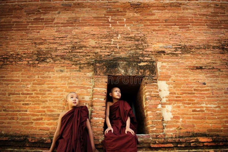 Buddistiska noviser royaltyfri fotografi