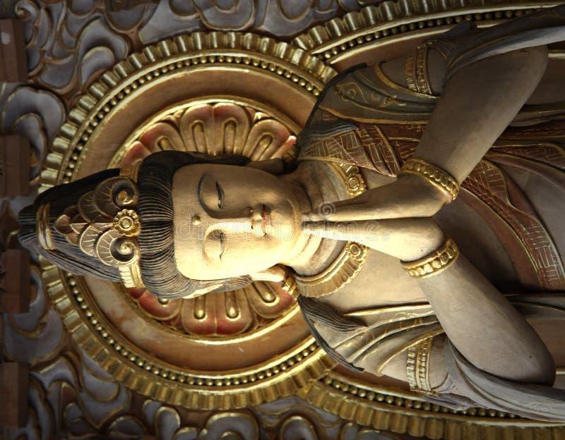 buddistiska skulpturer royaltyfri fotografi