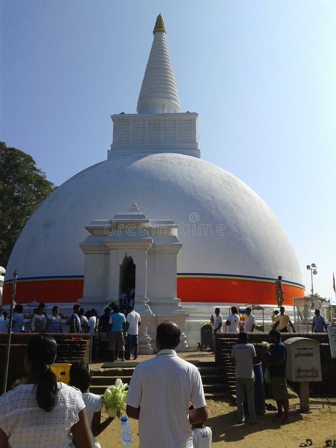 Buddistiskt ställe och arv i Sri Lanka royaltyfria bilder