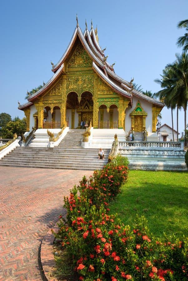 buddistiskt tempel för laos luangprabang royaltyfria foton