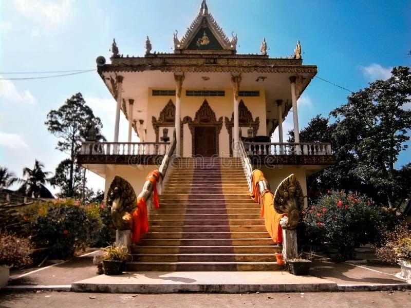 Buddistiskt tempel i Vietnam arkivbilder