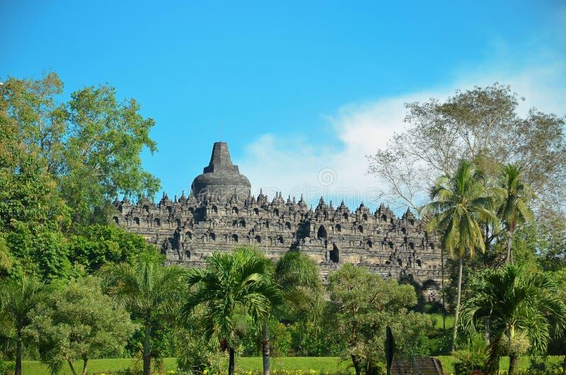 Buddisttempel Borobudur complex in Yogjakarta in Java Indonesia royalty-vrije stock foto