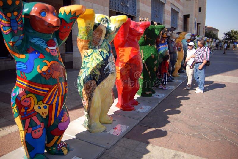 Buddy Bears uni à Jérusalem Israël image libre de droits