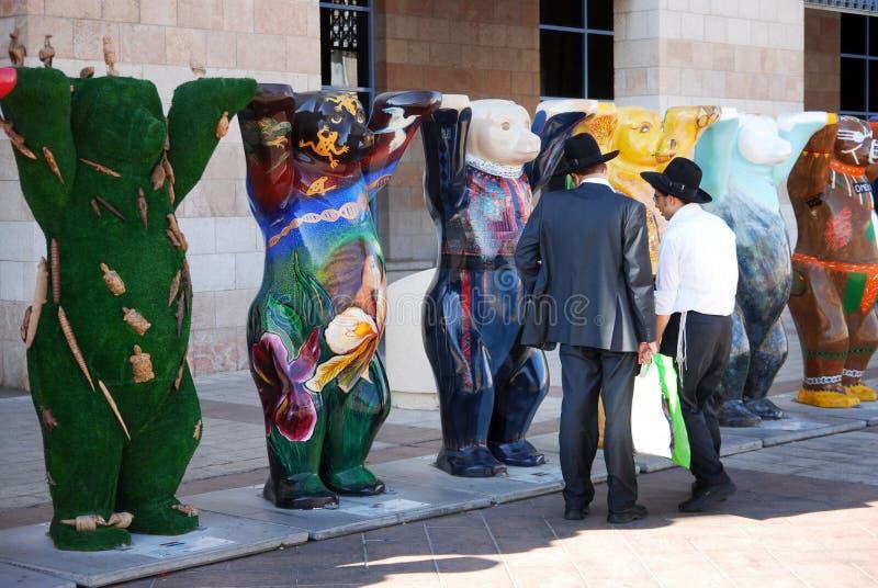 Buddy Bears unito a Gerusalemme Israele fotografia stock libera da diritti