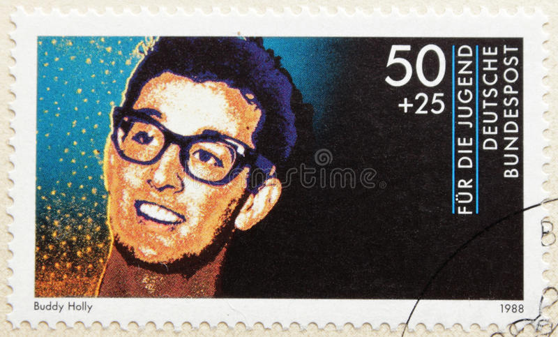 Download Buddy Holly editorial stock image. Image of postmark - 21515724