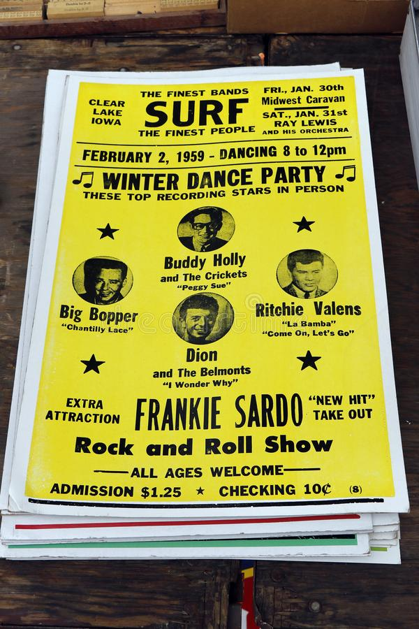 Free Buddy Holly And Friends Dance Party Poster Advertisement Stock Images - 165596914