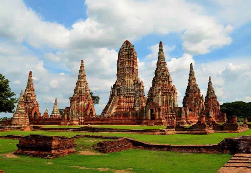 Buddyjska świątynia w Ayutthaya (Tajlandia) zdjęcia stock