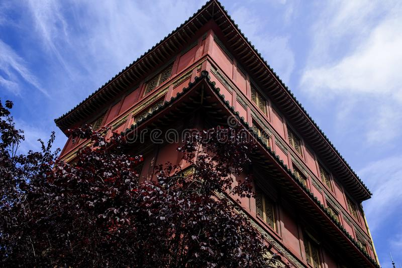 Buddyjska świątynia w Paris France obraz royalty free