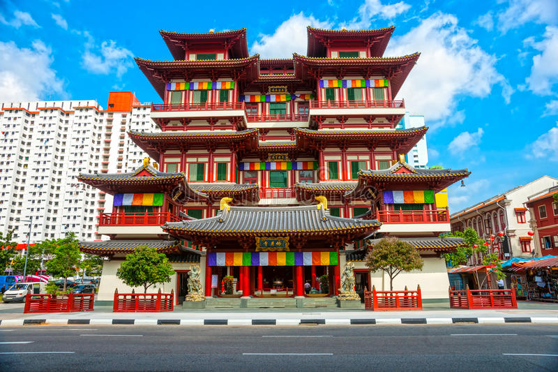 Buddyjska świątynia w Singapur obrazy royalty free