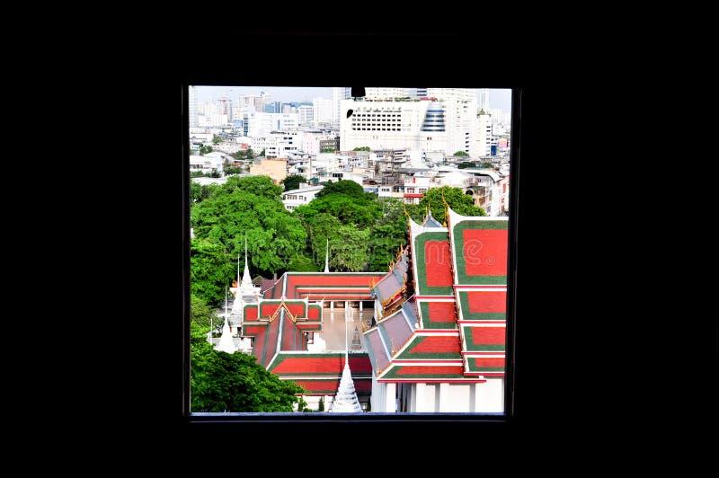 Buddyjska architektura miasto zdjęcia stock