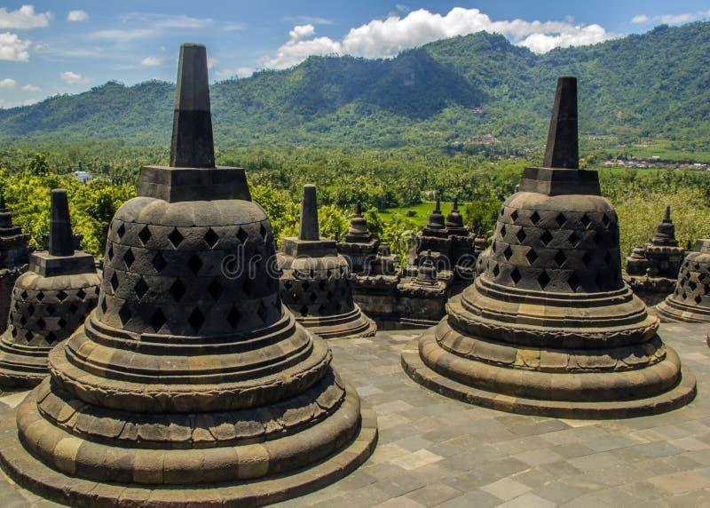 Buddyjska Borobodur świątynia Obraz Royalty Free