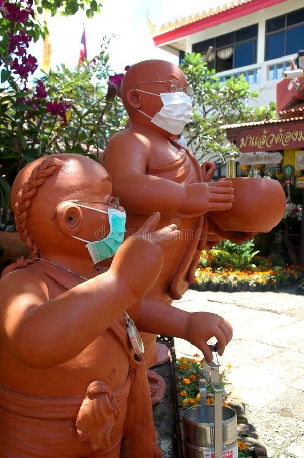 Buddyjska nowicjusz statua zdjęcia royalty free