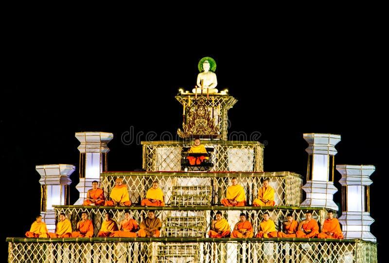 Buddyjska scena fotografia royalty free