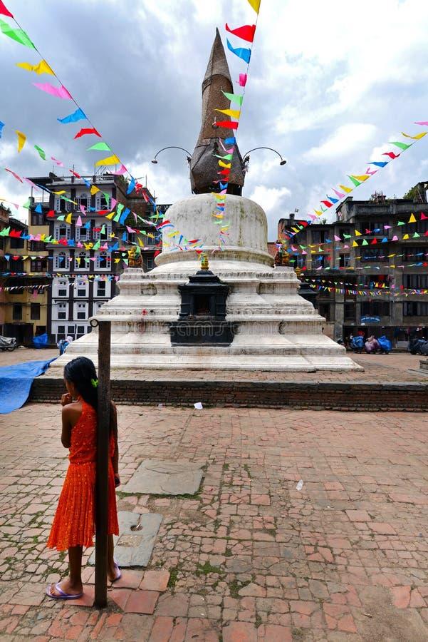 Buddyjska stupa, Kathmandu, Nepal obrazy royalty free