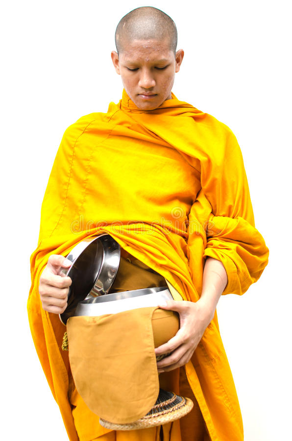 Buddyjska zasługa. michaelita s datków puchar obrazy stock