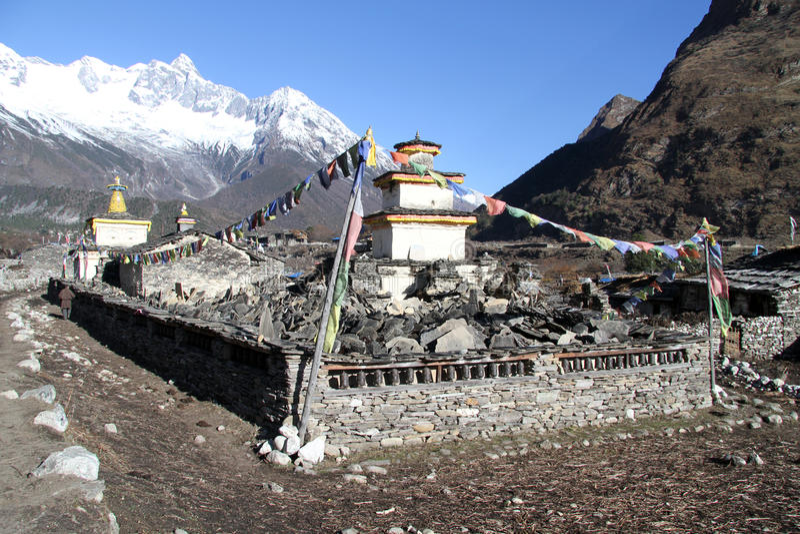 Buddyjski monaster fotografia royalty free