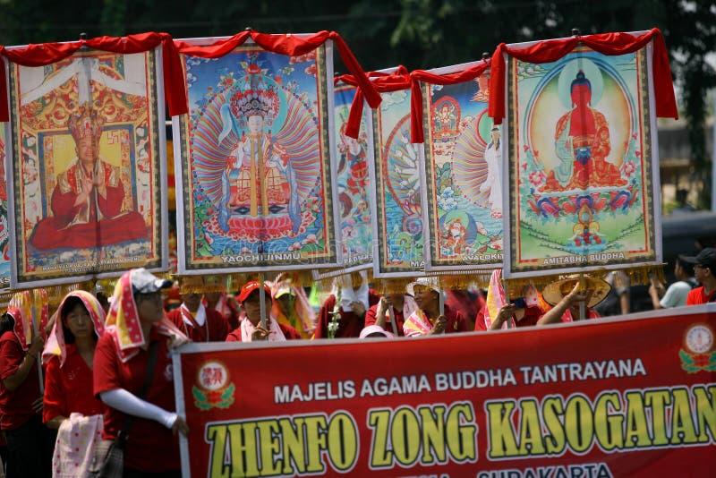 Buddyjski religijny rytuał zdjęcia stock