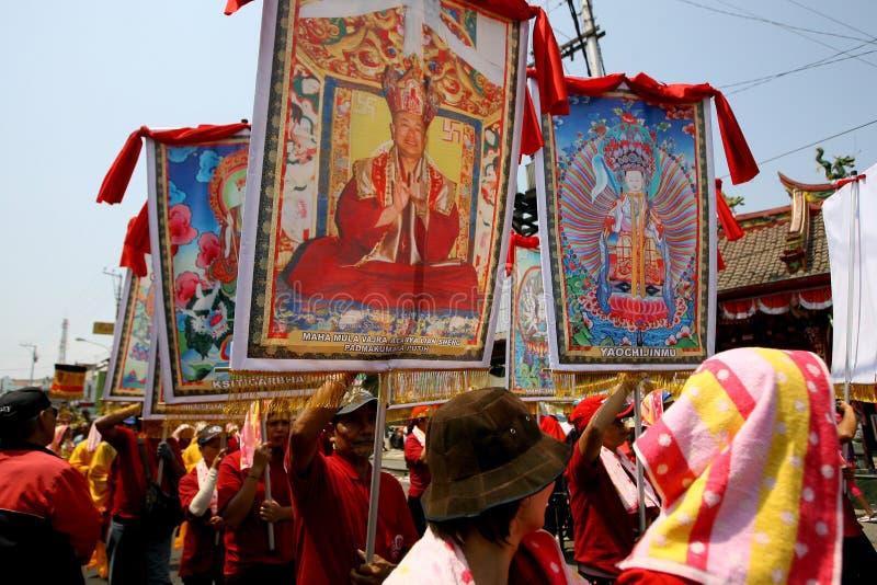 Buddyjski religijny rytuał zdjęcia royalty free