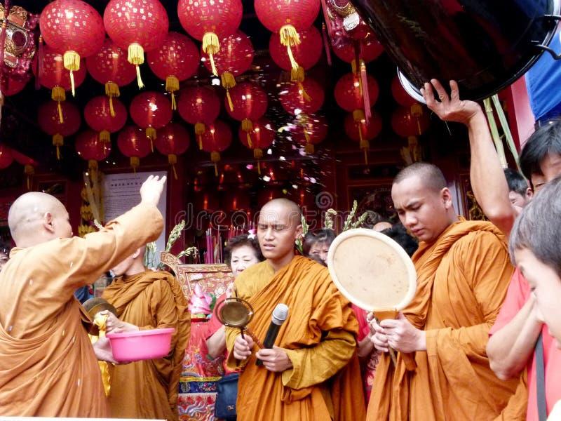 Buddyjski rytuał obraz royalty free