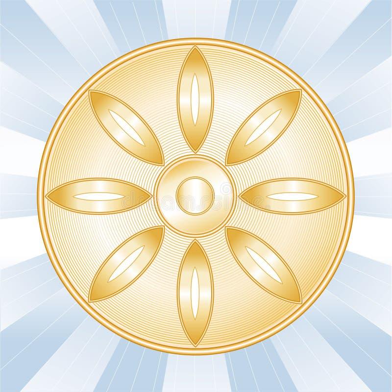 buddyjski symbol royalty ilustracja