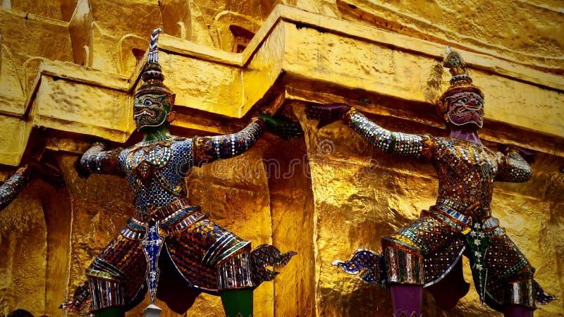 Buddyjski zabytek w Tajlandia Wielki pałac królewski Bangkok obraz stock