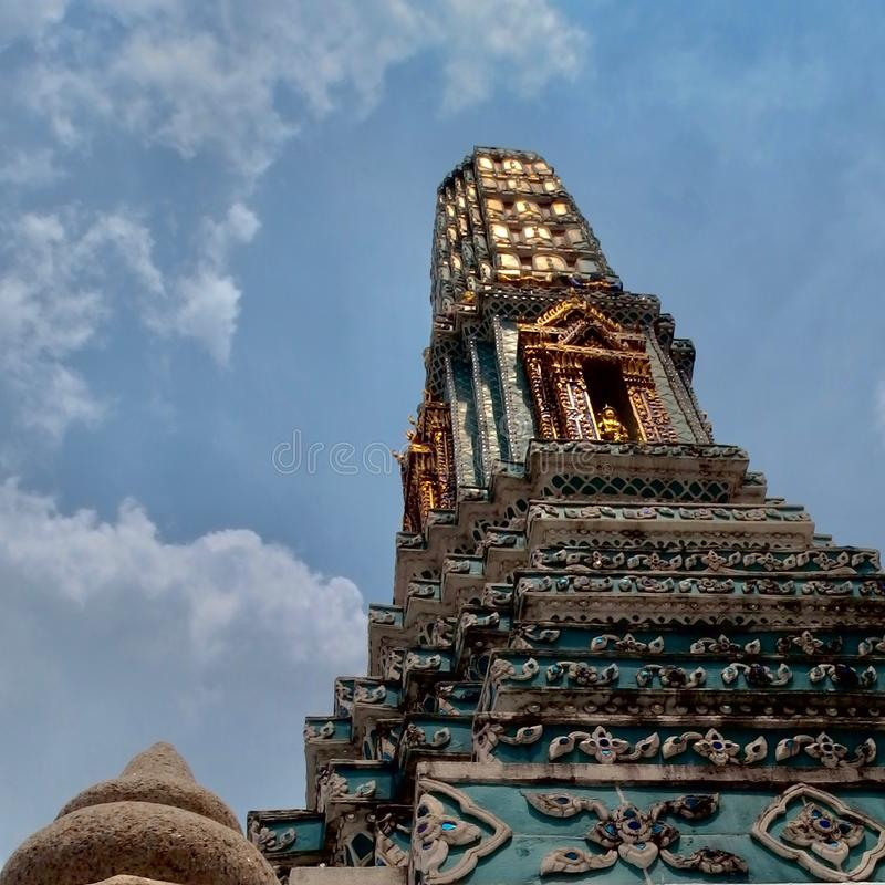 Buddyjski zabytek w Tajlandia Wielki pałac królewski Bangkok fotografia stock