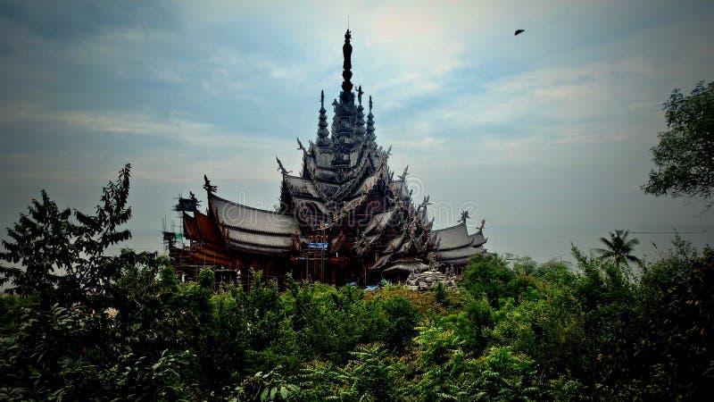 Buddyjski zabytek w Tajlandia Wielki pałac królewski Bangkok obraz royalty free