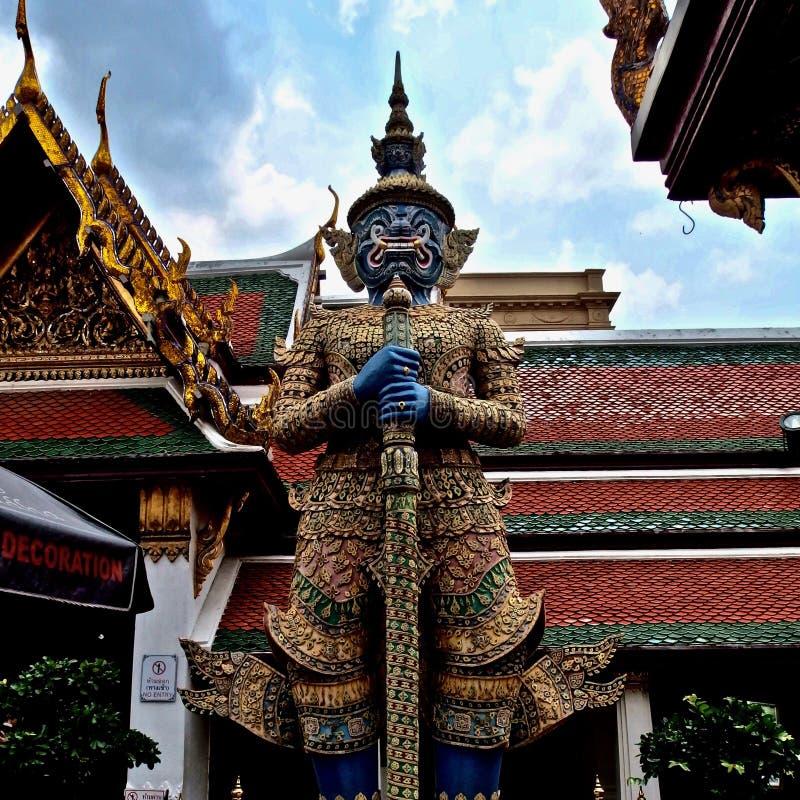 Buddyjski zabytek w Tajlandia Wielki pałac królewski Bangkok zdjęcia royalty free