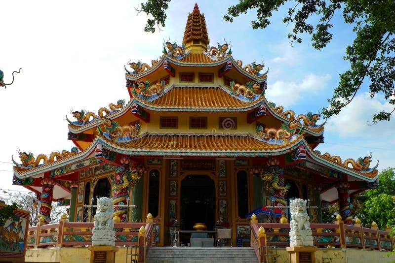 Buddyjskie świątynie Z Chińskim stylem zdjęcie stock