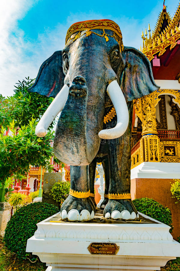 Buddyjskiej świątyni Chiang Mai, Tajlandia zdjęcia stock