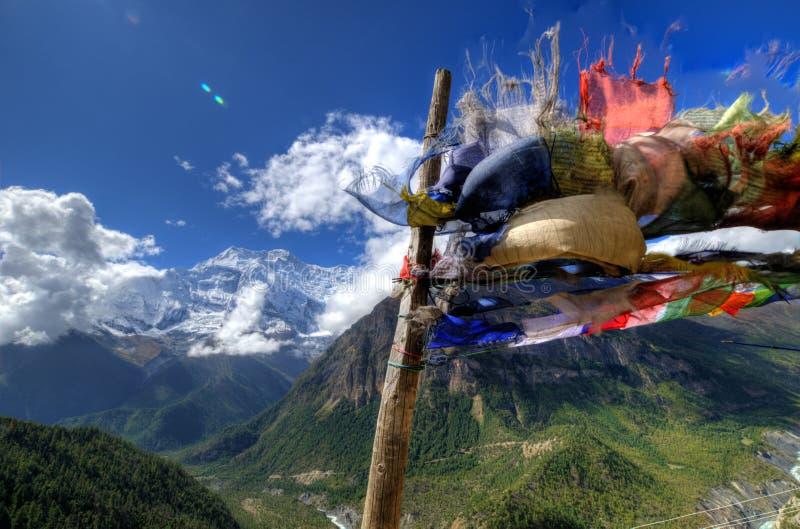 Buddysta Modli się flaga zdjęcie stock
