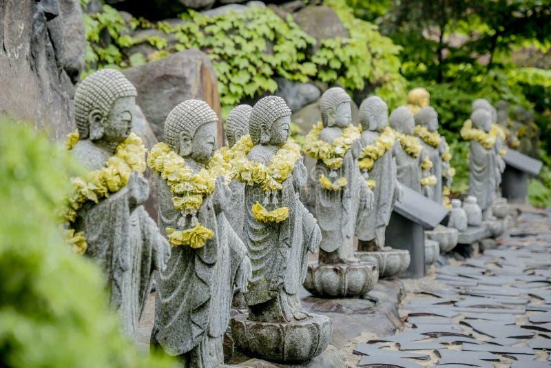 Buddysty kamień w świątyni zdjęcie royalty free