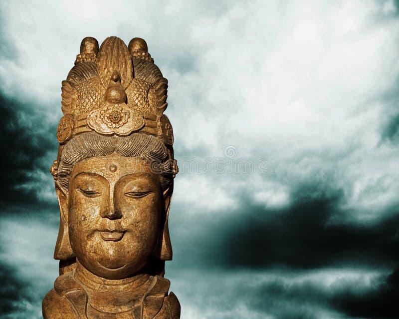 Buddyzmu conept ch'ing dyn chiński Buddha obrazy stock