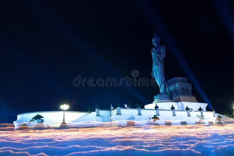 Buddyzmu falowania lekki obrządek zdjęcia royalty free