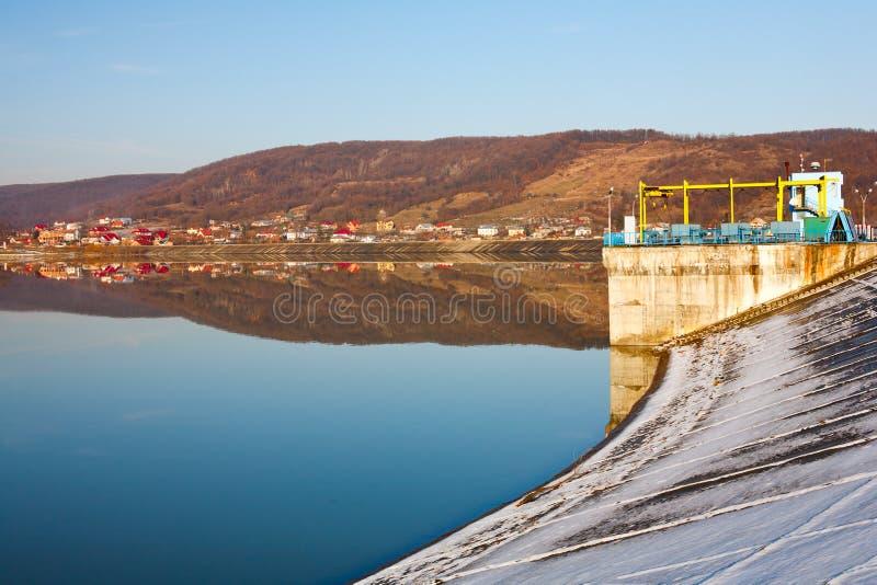 Budeasa, Arges - lago della diga fotografie stock libere da diritti