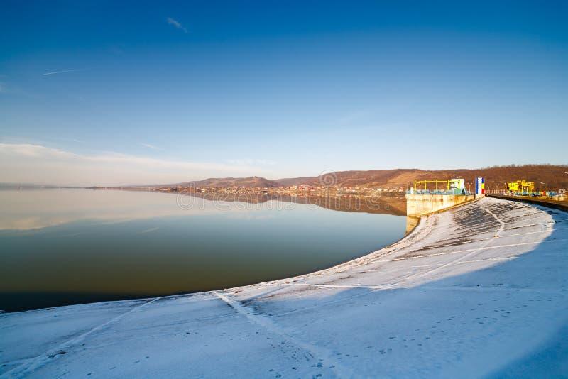 Budeasa, Arges - lago della diga immagine stock