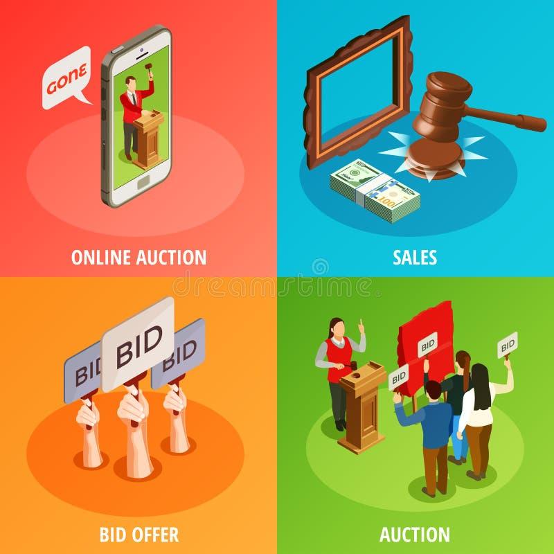 Budet erbjuder designbegrepp stock illustrationer