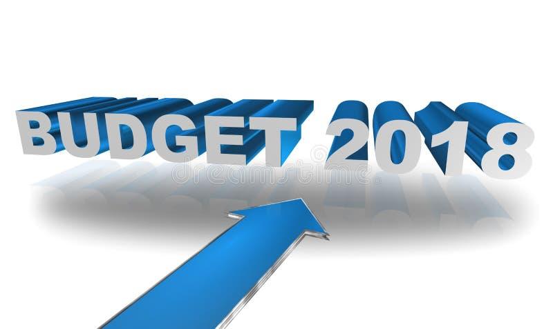 Budget 2018 royaltyfri illustrationer