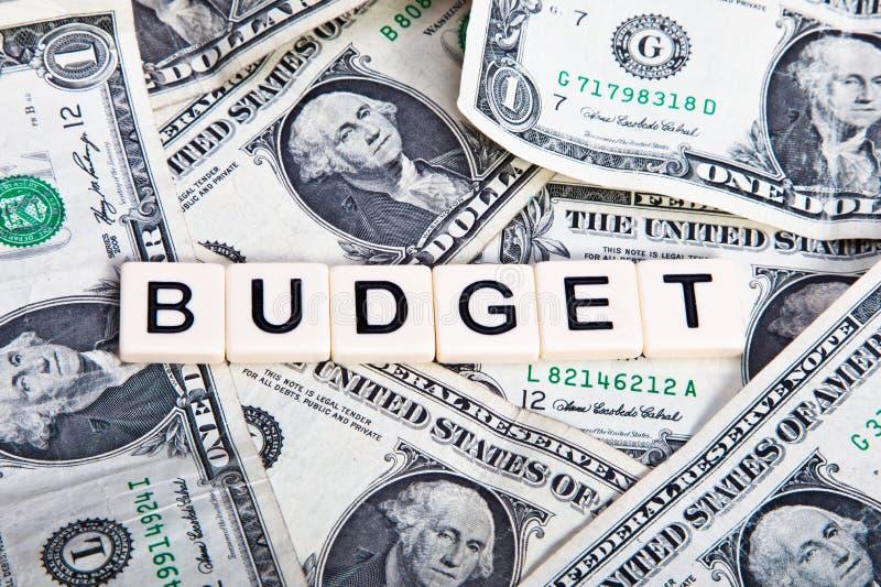 budget royaltyfri fotografi