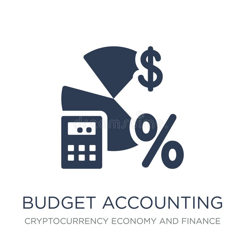 budget accounting icon. Trendy flat vector budget accounting icon on white background from Cryptocurrency economy and finance col vector illustration